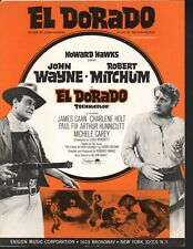 El Dorado 1966 John Wayne Robert Mitchum James Caan Sheeet Music