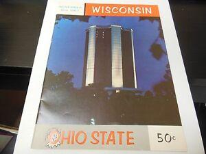 1967 NCAA FOOTBALL PROGRAM UNIVERSITY OF WISCONSIN / OSU RARE DECENT CONDITION