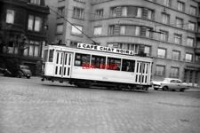 PHOTO  BELGIUM TRAM 1959  BRUXELLES-BRUSSEL STIB 4-WHEEL CAR TRAM  1074