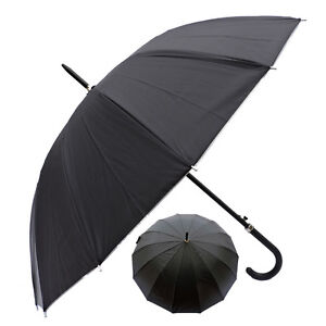 "Rain Sun UV Protection Umbrella 42"" Canopy Windproof Black w Sliver"