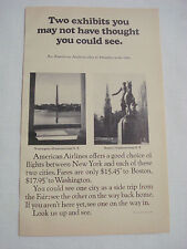 1964 American Airlines Ad to Boston and Washington, D.C. from New York City