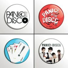"4-Piece PANIC! AT THE DISCO 1"" Pinback Band Buttons / Pins / Badges Set"