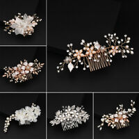 Lot Bridal Wedding Rhinestone Crystal Hair Headband Crown Comb Tiara Pageant