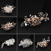 Lot Bridal Wedding Rhinestone Crystal Hair Headband Crown Comb Tiara Pageant