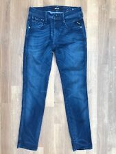 Replay Anbass Ladies Stretch Skinny Jeans Size 30 BLUE NAVY womens