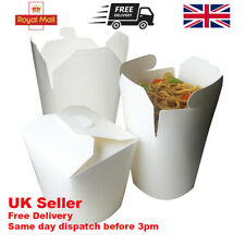 More details for white noodle boxes 16oz,26oz,32oz chinese takeaway deli curries rice pasta soups
