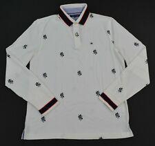 Men's Tommy Hilfiger Long-Sleeve  Lion Print Cotton Polo Shirt