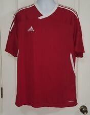 Adidas Red & White Soccer Shirt Men's Xl