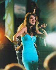 Celine Dion Color Photo In Concert Blue Dress 8x10 Photo (20x25 cm approx)