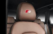 6 x Audi S-line Aufkleber für Kopfstützen A1 A3 A4 A5 A6 S6 RS TT Q7 Emblem Logo