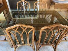 Vintage Henry Link Wicker and Rattan Indoor Dining Furniture Set