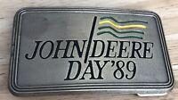 John Deere Day '89 Belt Buckle Nothing Runs Like A Deere