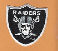 Old OAKLAND RAIDERS LOGO SHIELD STITCHED PATCH Unsold Stock IRON ON LAS VEGAS