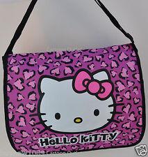 HELLO KITTY MESSENGER BAG PURSE SHOULDER TOTE BAG SANRIO CHEETAH PINK LEOPARD