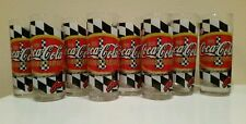 Coca-Cola Glasses For Racing Family X8 Tumblers Driving Your Thirst Checkered