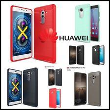 Etui Coque housse Fibre Carbone Fiber TPU Case Huawei Honor 5C 5X 6X 8 P9 Lite..