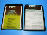 8 Track Cassette Tape Lot of 2, Easy Listening Italian Souvenier D'Italie