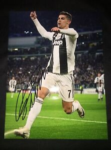 Cristiano Ronaldo Hand Signed Autograph Photo #7 Juventus ⚽️ All-Time Topscorer