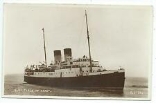 "SHIPPING - S.S.""ISLE OF SARK""  Real Photo  Postcard"