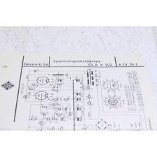 Original Telefunken Ela V102 Schematics