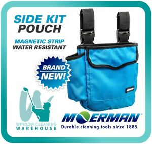 MOERMAN Side Kit POUCH Window Cleaning Tool Cloth Holder Belt Clips Magnetic