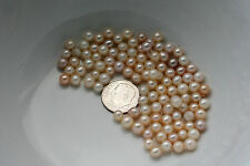 100 Carats Genuine Undrilled Freshwater Pearls - Round - 4-6mm