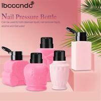 Clean Acetone  Empty Bottle Pump Dispenser Container Nail Polish Remover