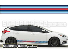 Ford Martini side racing stripes 001 vinyl graphics stickers Focus Fiesta