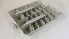 Vintage Quickube Double Ice Cube Tray 28 Cubes with divider Aluminum