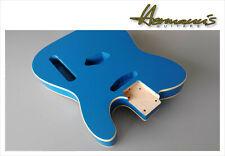 Telecaster Erle Body, Telecaster Alder Body, Finish Blue Metallic with Bindings