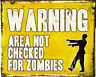Warning Area Zombies - VINTAGE ADVERTISING ENAMEL METAL TIN SIGN WALL PLAQUE