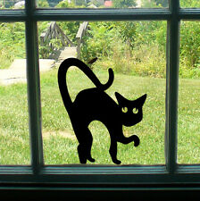Spooky Black Cat miedo car/bike/window / wall/laptop Halloween Vinilo calcomanía adhesivo