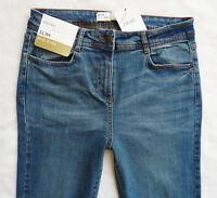 BNWT NEXT Ladies Relaxed skinny slim leg mid blue mid rise stretch jeans  R L XL