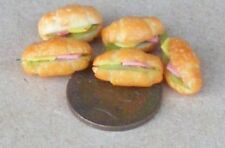 1:12 Scale 5 Filled Croissants Tumdee Dolls House Bread Food Snack Accessory