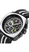 luminox mens A.1143 tony kanaan  Black leather black Chronograph Dial Watch