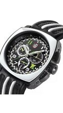 luminox mens A.1143 tony kanaan  Black leather black Chronograph Dial Watch