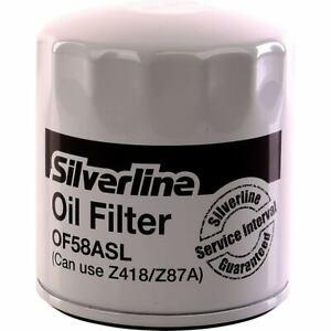TOP QUALITY SILVERLINE OIL FILTER Z418 Z87A OF58ASL CAR SERVICE FORD TOYOTA BMW