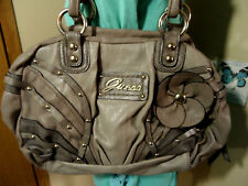 """GUESS """"Bryony"""" Satchel Purse Brown Large Western Studded shoulder bag Cowgirl"""