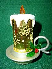Hallmark Gift  Bag  Lighted  Gold  Candle Snow Globe  Swirling Glitter  NEW