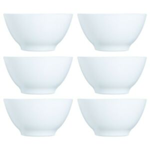 6x Luminarc 500ml Opal Glass White Cereal Bowl Breakfast Microwave Safe Soup NEW