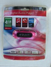 GPX MW151P Pink 4 GB MP3/WMA Player AA Battery Powered NEW SEALED runs single aa