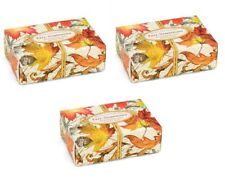 3 MICHEL DESIGN WORKS FALL SYMPHONY  BAR BATH SOAP 4.5 OZ Each