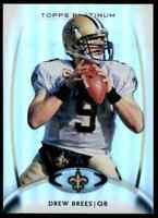 2012 Topps Platinum Drew Brees Saints #100 *Noles2148*