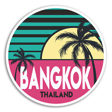 2 x 10cm Bangkok Vinyl Stickers - Thailand Travel Sticker Laptop Luggage #18017