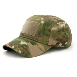 PATCH CACHE CAP BY WAZOO Tactical Cap W/ 6 Hidden Pockets Free US Delivery