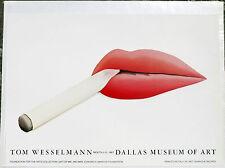 (PRL) TOM WESSELMANN DALLAS MUSEO VINTAGE AFFICHE ORIGINAL ART PRINT ARTE POSTER