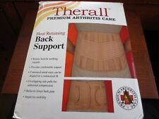 FLA Therall Premium Arthritis Care Heat Retaining Back Support Large, New