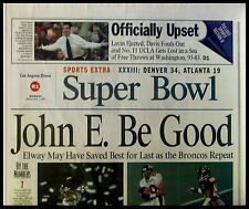 L.A. Times Sports Section 1999-02-01 - Denver Wins Super Bowl XXXIII 34-19
