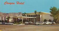 CB-284 CA, Palm Springs, Canyon Hotel Motel Chrome Postcard Old Cars Front
