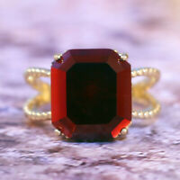 Elegant 18k Yellow Gold Plated Rings for Women Jewelry Garnet Size 6-10 NEW-